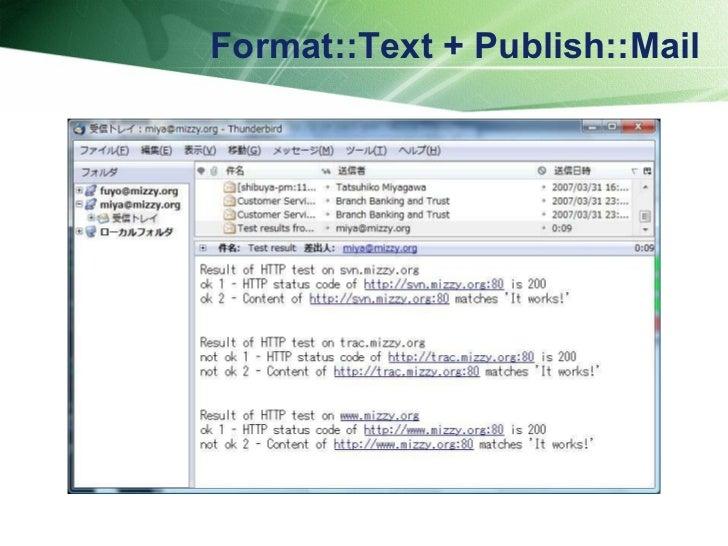 Format::Text + Publish::Mail