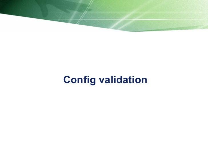 Config validation