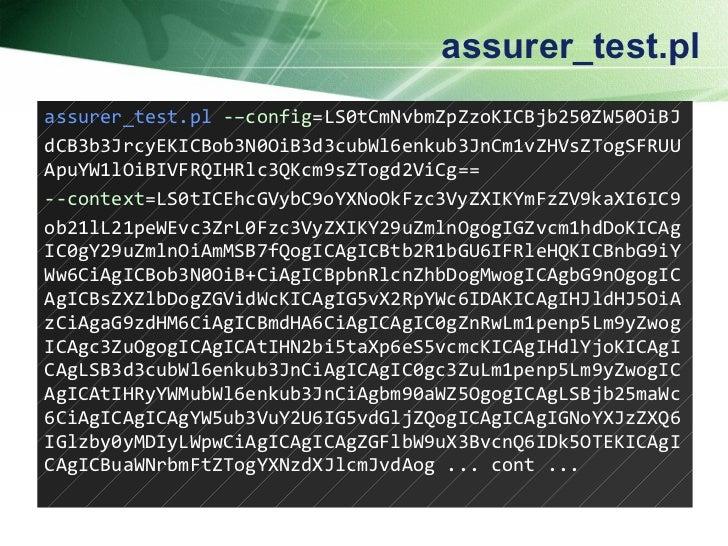 assurer_test.pl assurer_test.pl   -– config = LS0tCmNvbmZpZzoKICBjb250ZW50OiBJ dCB3b3JrcyEKICBob3N0OiB3d3cubWl6enkub3JnCm1...