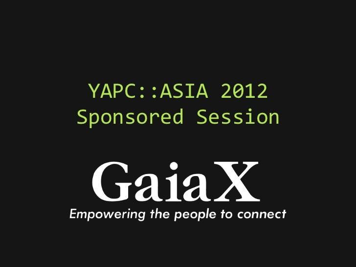YAPC::ASIA 2012Sponsored Session