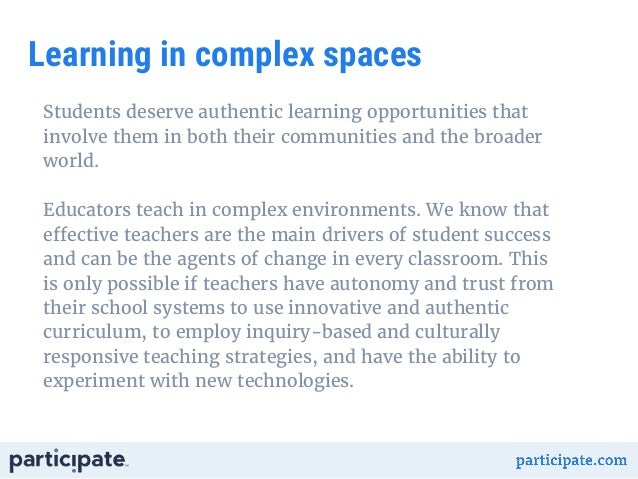 participate impact report classroom practice learning in complex spaces 3