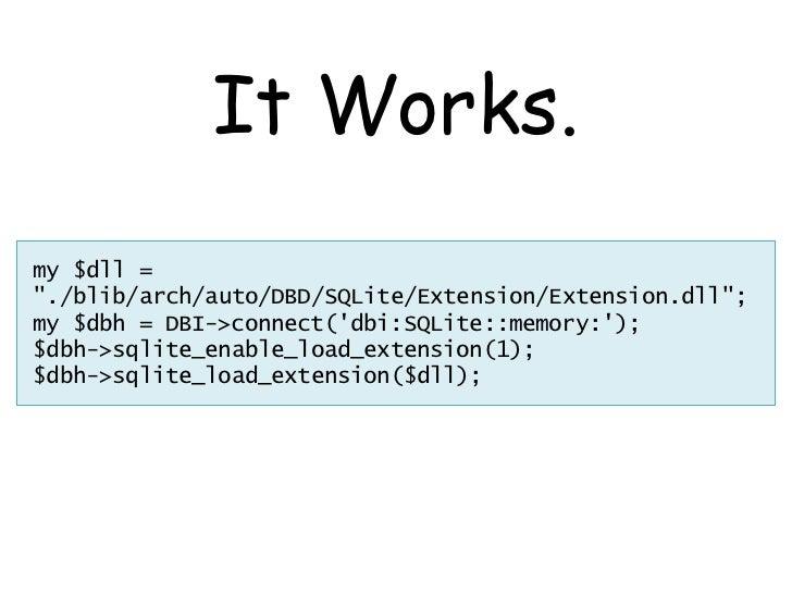 DBD::SQLite