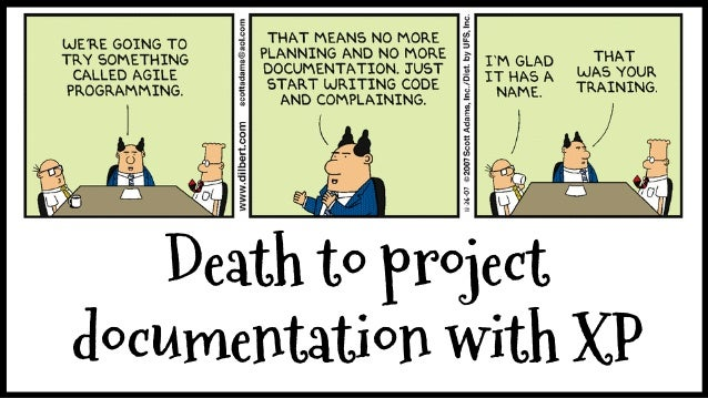 death to project documentation with extreme programming
