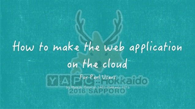 Masashi Terui @ marcy_terui I'm a Developer and Cloud Architect. I'm a Remote-Mulit-Worker at Serverworks Co., Ltd. and Fr...