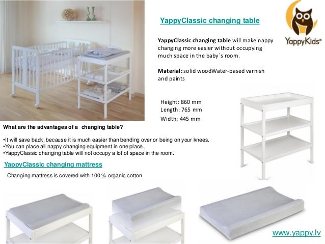 ... 16. YappyClassic Changing Table ...