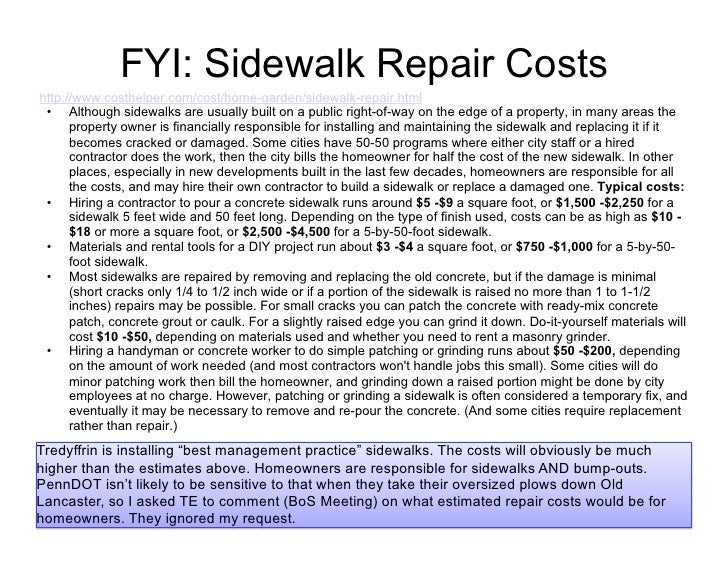 Tredyffrin Township - Sidewalk Project