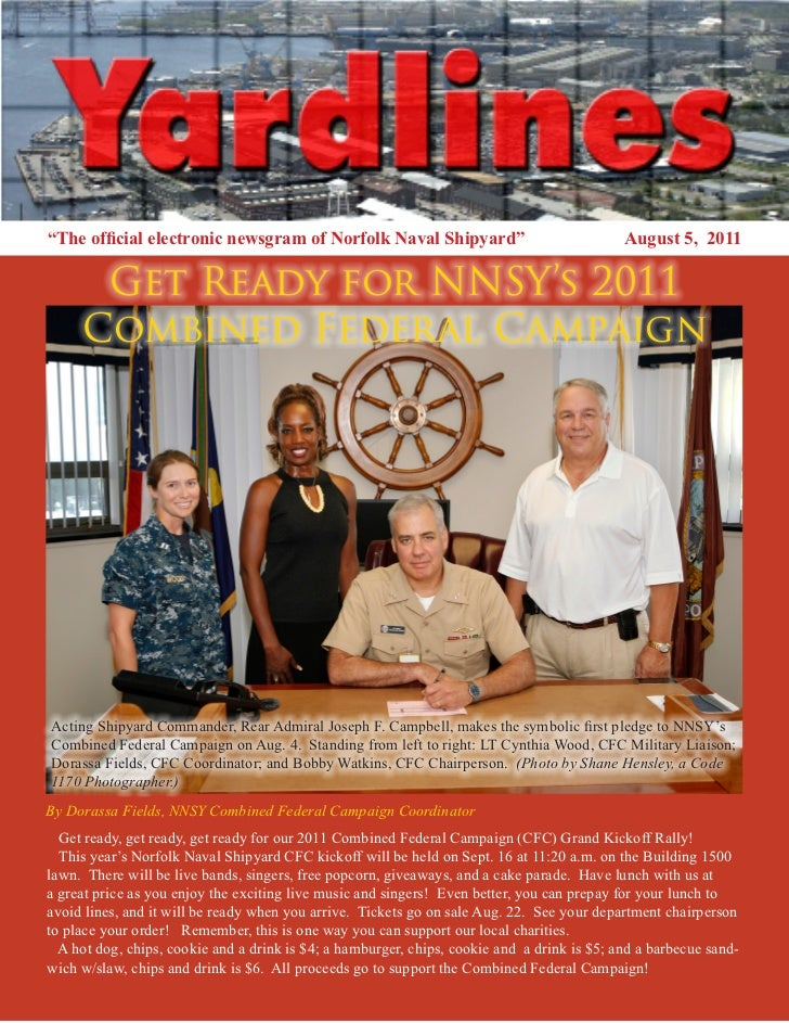 """""""The official electronic newsgram of Norfolk Naval Shipyard""""                                 August 5, 2011      Get Ready..."""