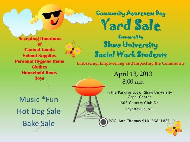 yard sale flyer landscape community awareness day