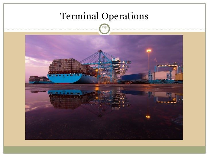 Terminal Operations Page