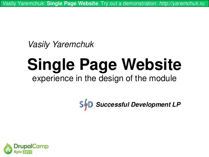 Vasily Yaremchuk: Single Page Website. Try out a demonstration: http://yaremchuk.ru          Vasily Yaremchuk          Sin...