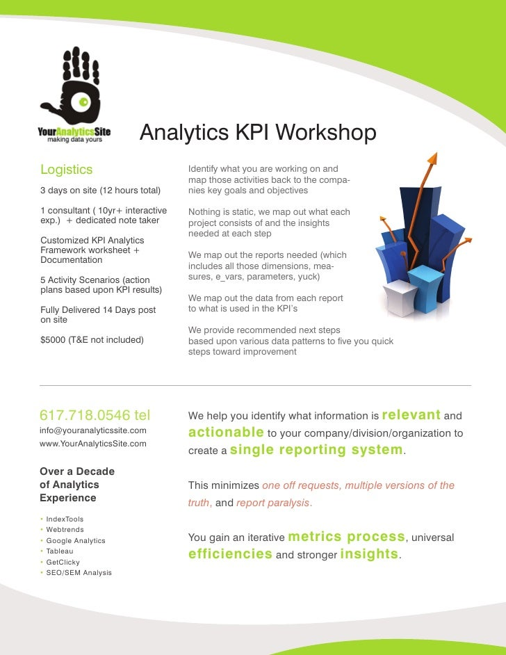 Analytics KPI Workshop Logistics                          Identify what you are working on and                            ...