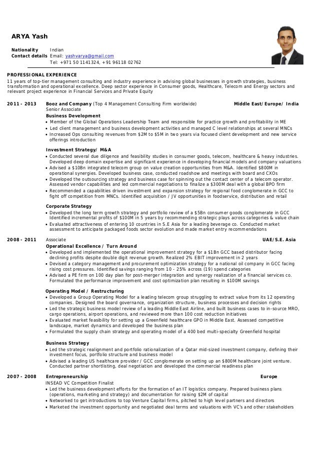 Insead resume
