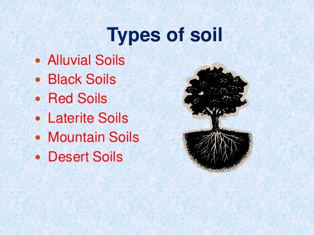 Different types of soil for All about soil