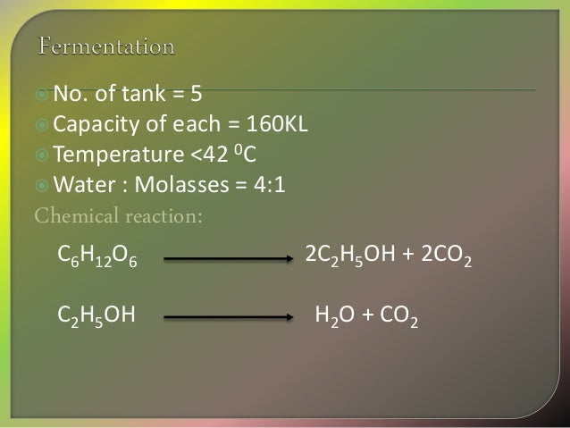 Ethanol Production From Molasses