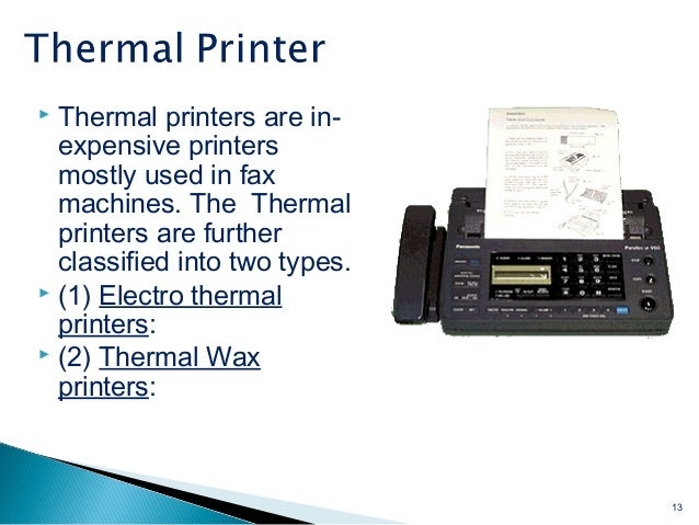 two type of printer Printers And Its Types