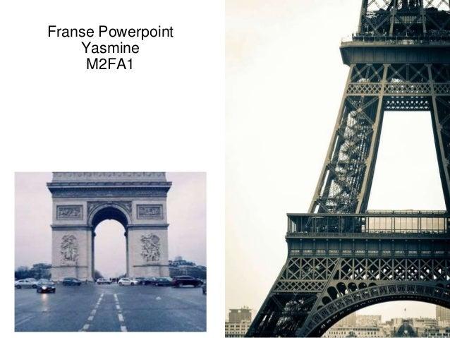Franse Powerpoint Yasmine M2FA1