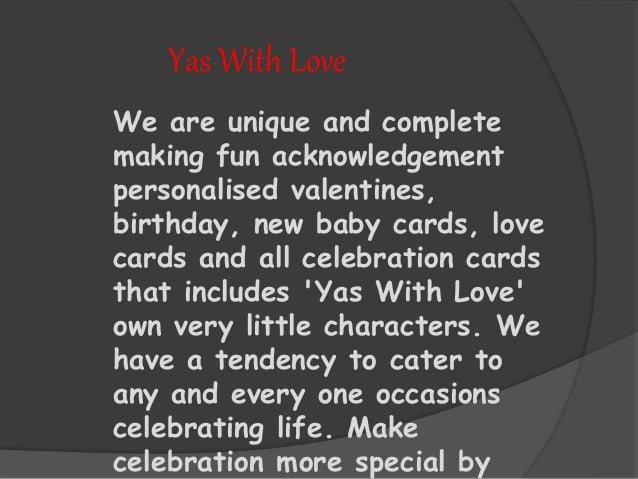 Yas with love Online Personalised Birthday Card – Online Personalised Birthday Cards