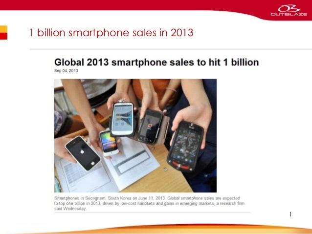 1 billion smartphone sales in 2013  1