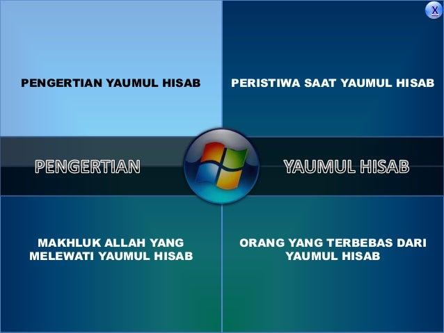Yaumul hisab dirasah islamiah Slide 3