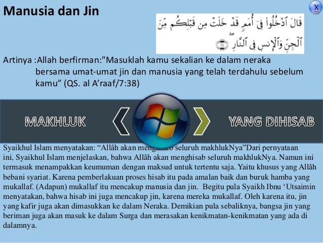 """Manusia dan Jin  Artinya :Allah berfirman:""""Masuklah kamu sekalian ke dalam neraka bersama umat-umat jin dan manusia yang t..."""