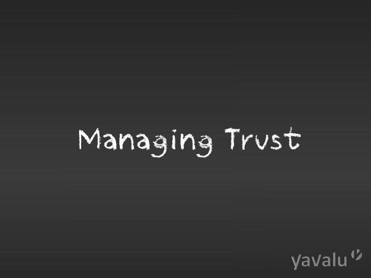 yavalu CeBIT 2012 - Managing Trust Slide 2