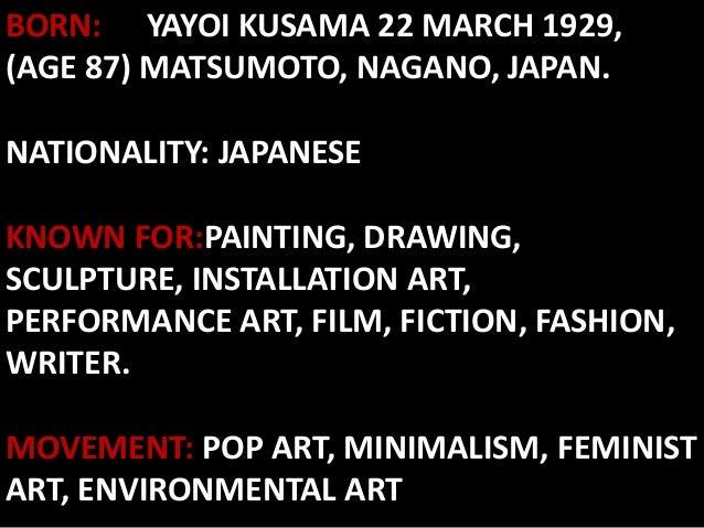 Yayoi kusama m for Minimal art slideshare