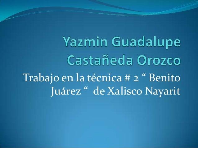 """Trabajo en la técnica # 2 """" Benito     Juárez """" de Xalisco Nayarit"""
