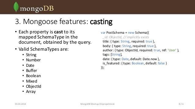 Mongoose: MongoDB object modelling for Node js