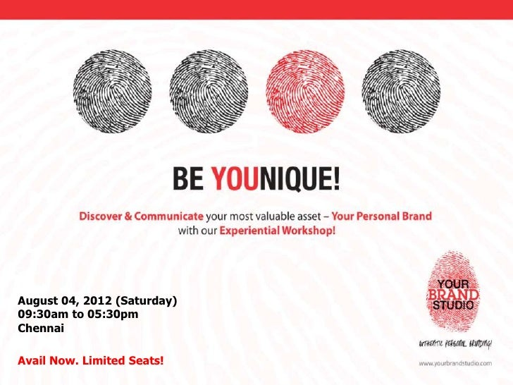 August 04, 2012 (Saturday)09:30am to 05:30pmChennaiAvail Now. Limited Seats!