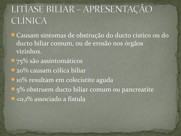 • Denominação dada aos quadros que apresentam episódios recorrentes de cólica biliar. • Achados anatomopatológicos incluem...