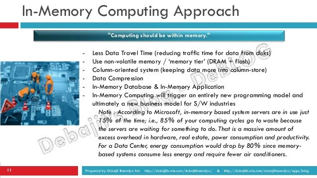 How In Memory Computing Changes Everything