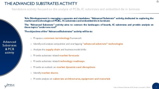 Status of Advanced Substrates report 2018