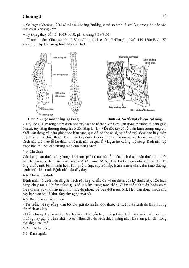 Chương 2 15 + Số lượng khoảng 120-140ml tức khoảng 2ml/kg, ở trẻ sơ sinh là 4ml/kg, trong đó các não thất chứa khoảng 25ml...