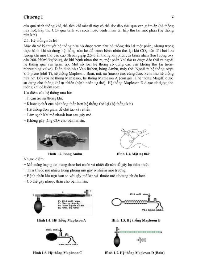 Chương 1 2 của quá trình thông khí, thể tích khí mất đi này có thể do: đào thải qua van giảm áp (hệ thống nửa hở), hấp thu...