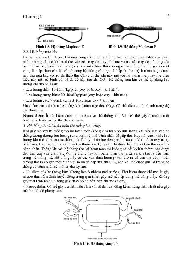 Chương 1 3 Hình 1.8. Hệ thống Mapleson E Hình 1.9. Hệ thống Mapleson F 2.2. Hệ thống nửa kín Là hệ thống có lưu lượng khí ...