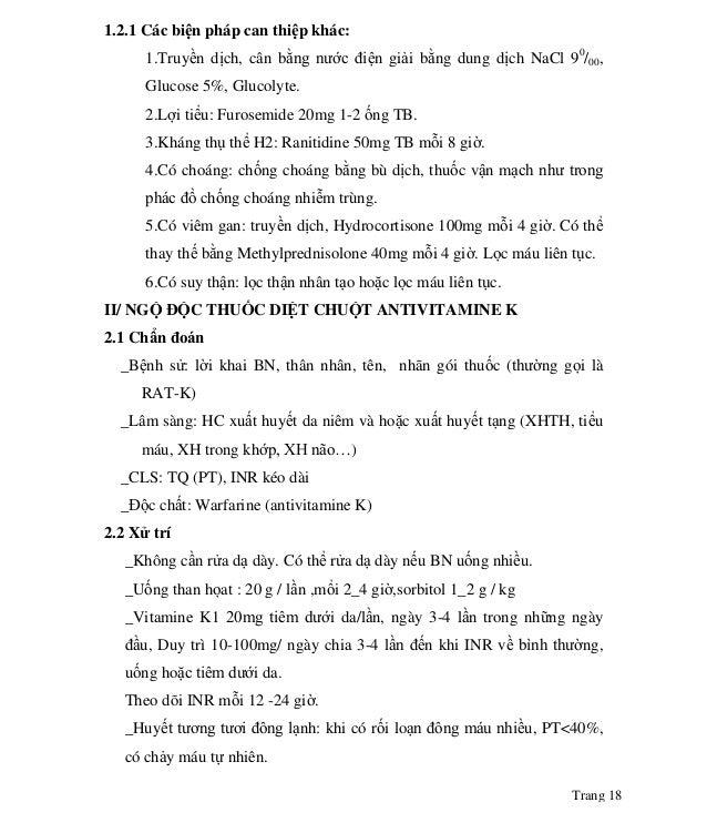Trang 18 1.2.1 Các biện pháp can thiệp khác: 1.Truyền dịch, cân bằng nước điện giải bằng dung dịch NaCl 90 /00, Glucose 5%...