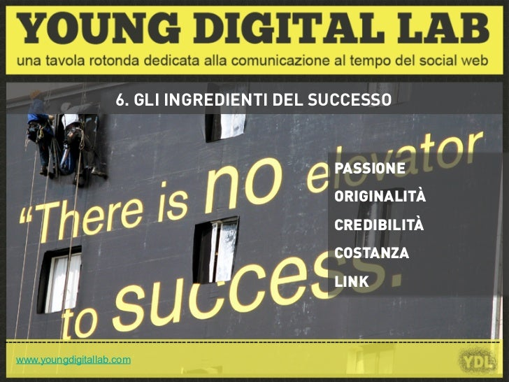 6. GLI INGREDIENTI DEL SUCCESSO                                                                             PASSIONE      ...