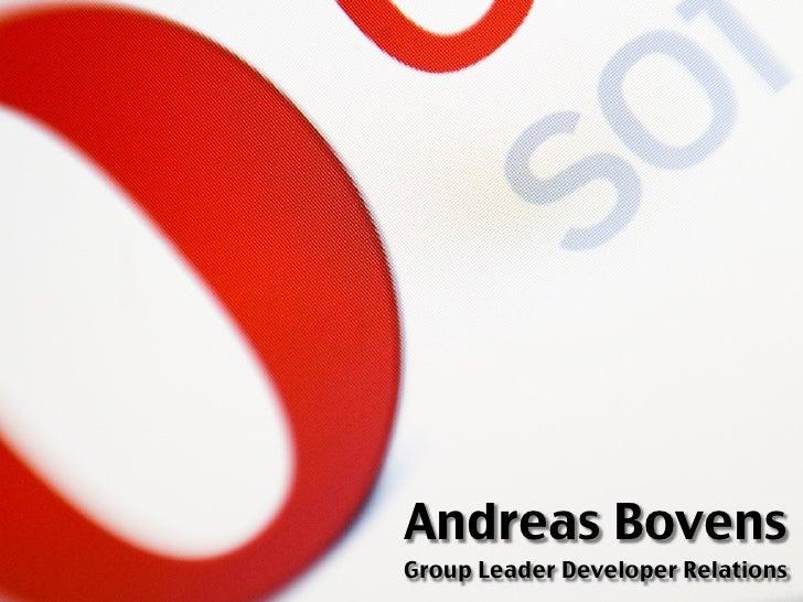 Andreas Bovens Group Leader Developer Relations