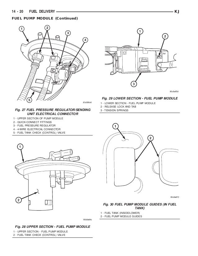 20  fig  27 fuel pressure regulator/sending
