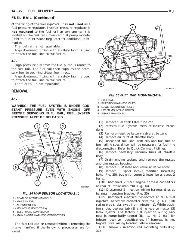 jeep liberty 2002 2005 fuel system rh slideshare net 2009 Chrysler Town and Country Engine Diagram Chrysler 2.5 V6 Engine Diagram