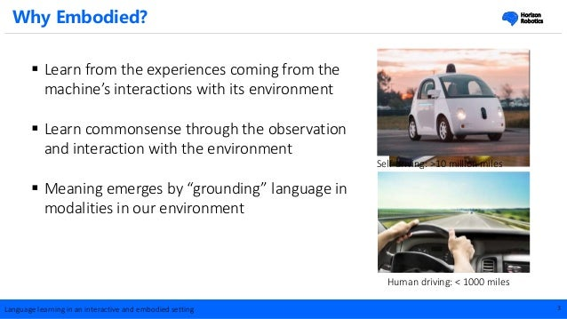 Wei Xu at AI Frontiers : Language Learning in an Interactive and Embodied Setting Slide 3