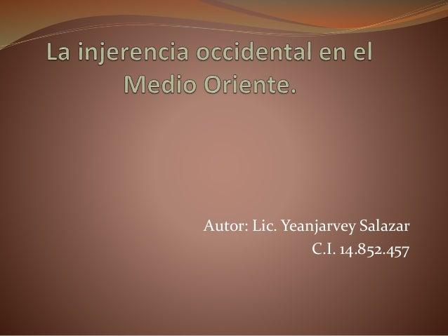 Autor: Lic. Yeanjarvey Salazar C.I. 14.852.457