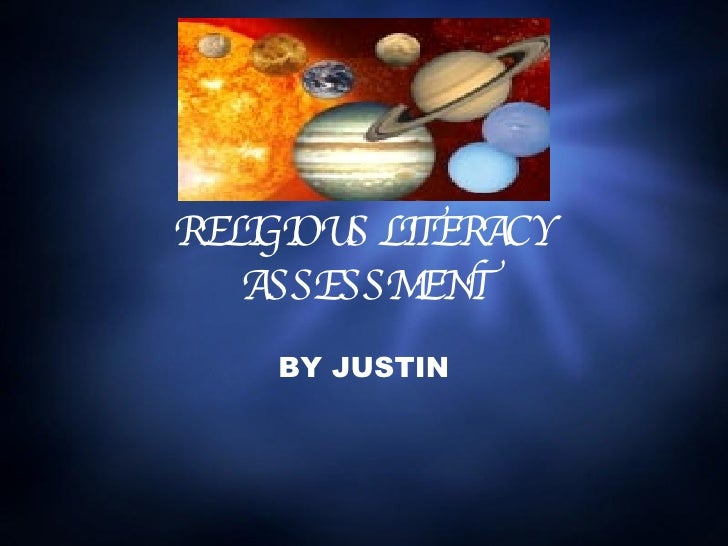 RELIGIOUS LITERACY ASSESSMENT BY JUSTIN