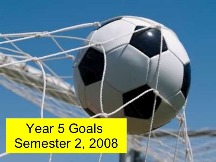 Year 5 Goals  Semester 2, 2008