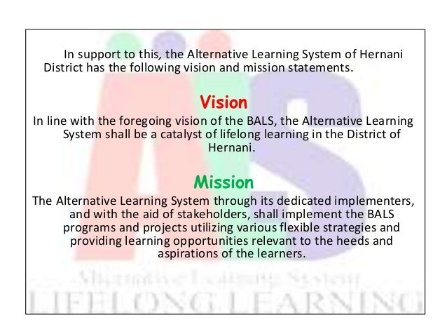alternative learning system 705 1 Contents 1 bureau of alternative learning system 2 administration 3 levels  31 elementary level 32 high school or secondary level.