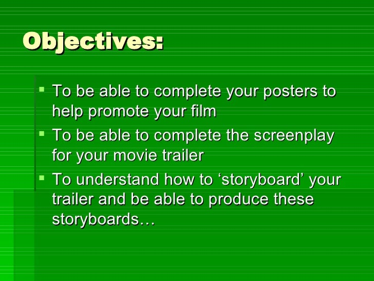 Objectives: <ul><li>To be able to complete your posters to help promote your film </li></ul><ul><li>To be able to complete...