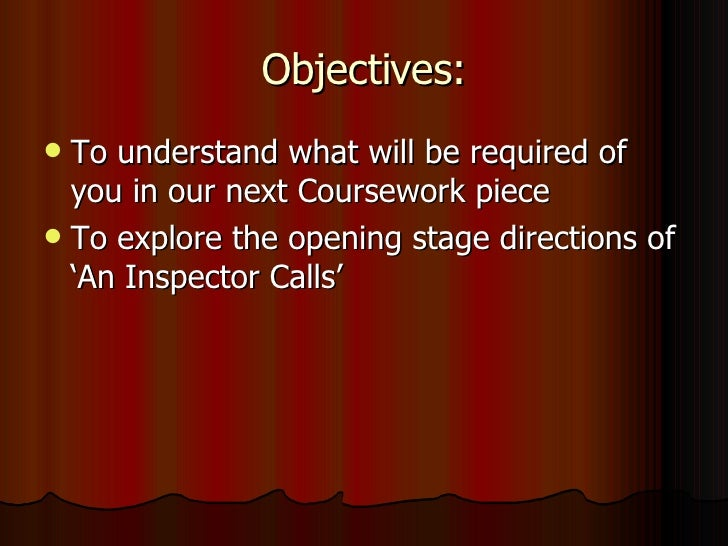 Objectives: <ul><li>To understand what will be required of you in our next Coursework piece </li></ul><ul><li>To explore t...