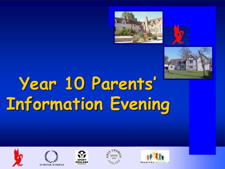 Year 10 Parents'Information Evening