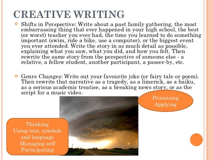 Creative writing tasks year 10