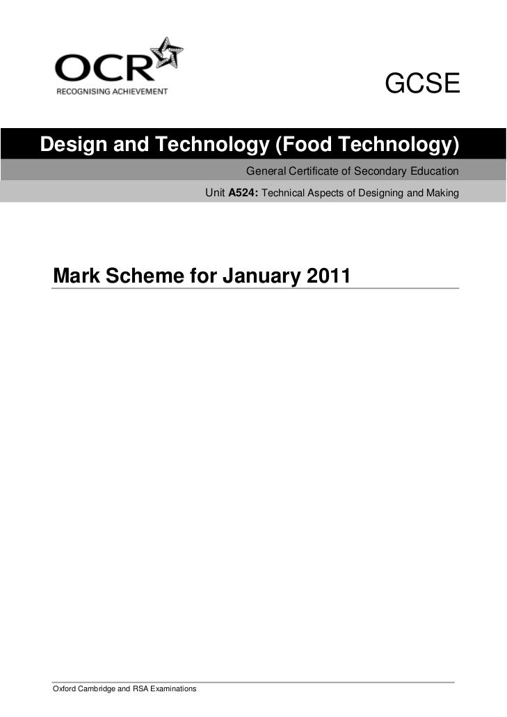 GCSEDesign and Technology (Food Technology)                                                 General Certificate of Seconda...